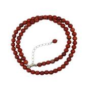 Collier en Pierres Boules de Jaspe Rouge 6 mm