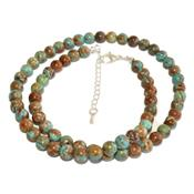 Collier en Pierre Boule de Chrysocolle 8 mm